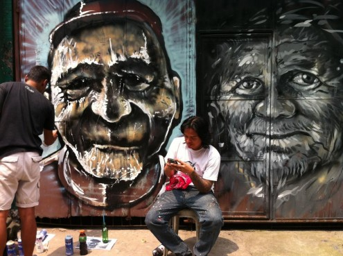Art para sa lahat geloy x rai rai cruz murals and for Ano ang mural painting