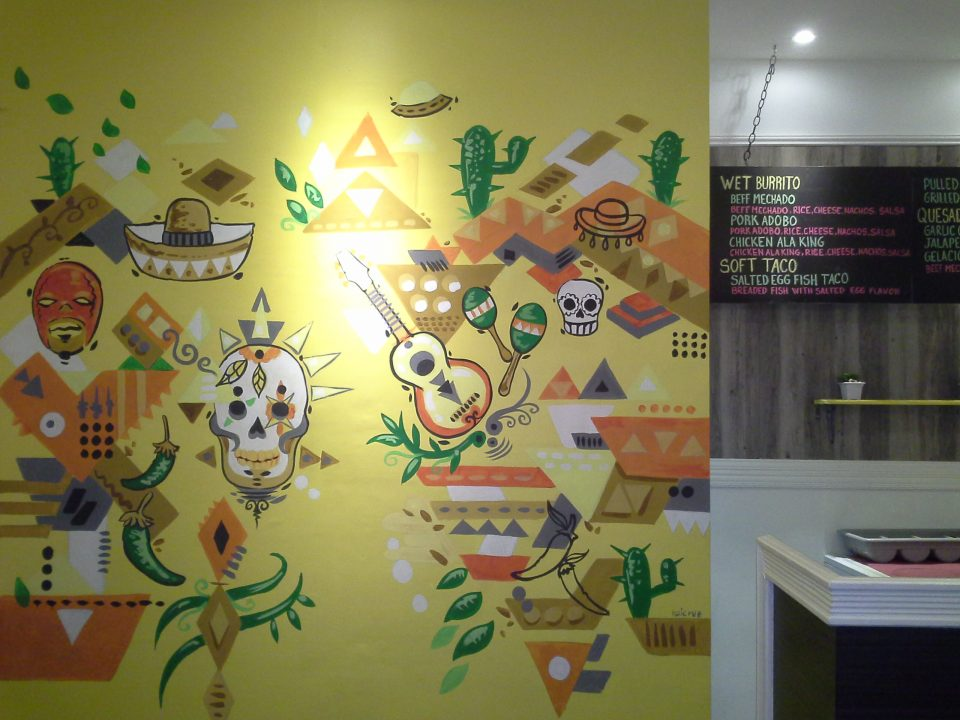 Filipino Mexican Restaurant Mural | Rai Cruz - Murals and ...